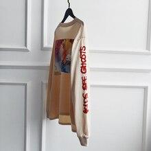 c837c1e7d3a2e Kanye Uzun Kollu T-shirt Erkek Kadın Kafatasları Çocuklar See Hayaletler T  Gömlek Streetwear Kid Cudi Kanye West Sezon 6 Giyim h.
