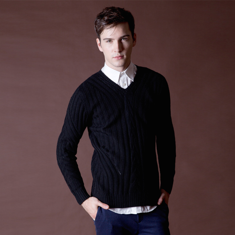 V Neck Sweaters For Black Men
