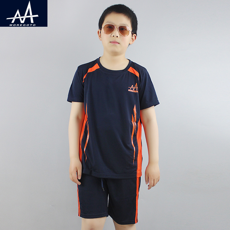 Summer Boy's Sports Suit Children Soccer Clothes Dry Sportswear Teen Boy Jogging Sets Boys Casual Clothing Sets Tee and Shorts