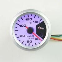 52mm Water Temperature Gauge Auto Gauge Celsius Automotive Water Temp Meter Colorful 7 Color Backlight Free