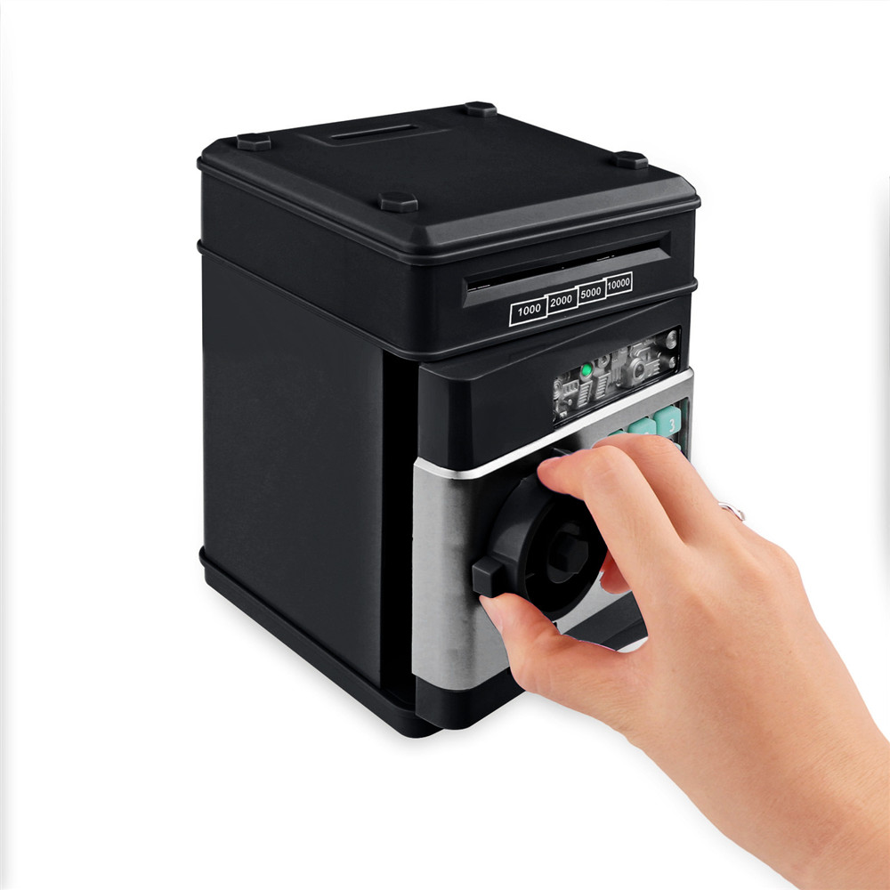 Electronic Piggy Bank ATM Password Money Box Cash Coins Saving Box ATM Bank Safe Box Automatic Deposit Banknote Christmas Gift 3