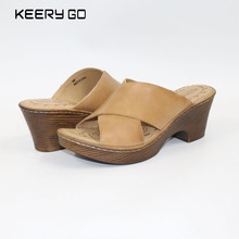 keerygo new high-end leather, comfortable feet sandals, classic sandals Cowhide women's slippers Handmade women's shoes keerygo new high end leather comfortable feet sandals classic sandals