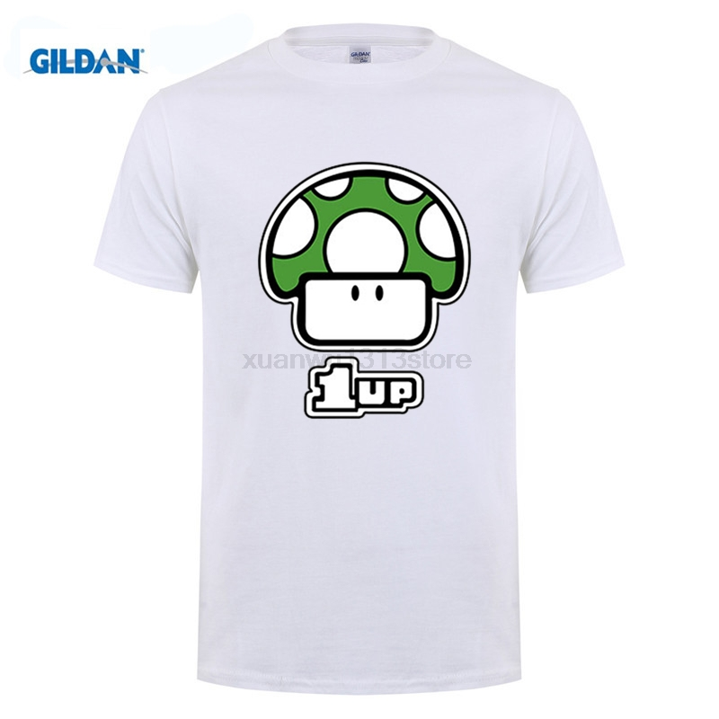 Game Super Mario Bros T-shirt Cartoon Mushroom Men's T Shirt Printing Shirts Fashion Teenager Tops Homme Tees