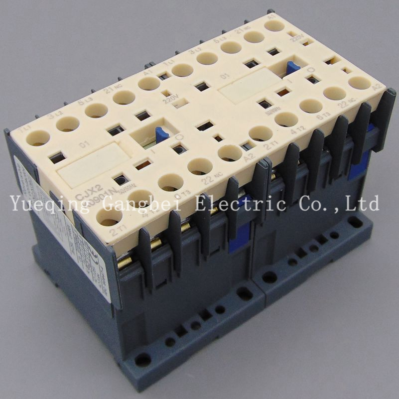CJX2K0901N reversing contactor mechanical interlocking contactor Mechanical chain contactor voltage 380V 220V 110V <font><b>36V</b></font> 24V image