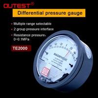 Differential pressure Gauge 1/8 NPT Air Pressure Meter Barometer positive pressure Negative pressure (vacuum) measuring range