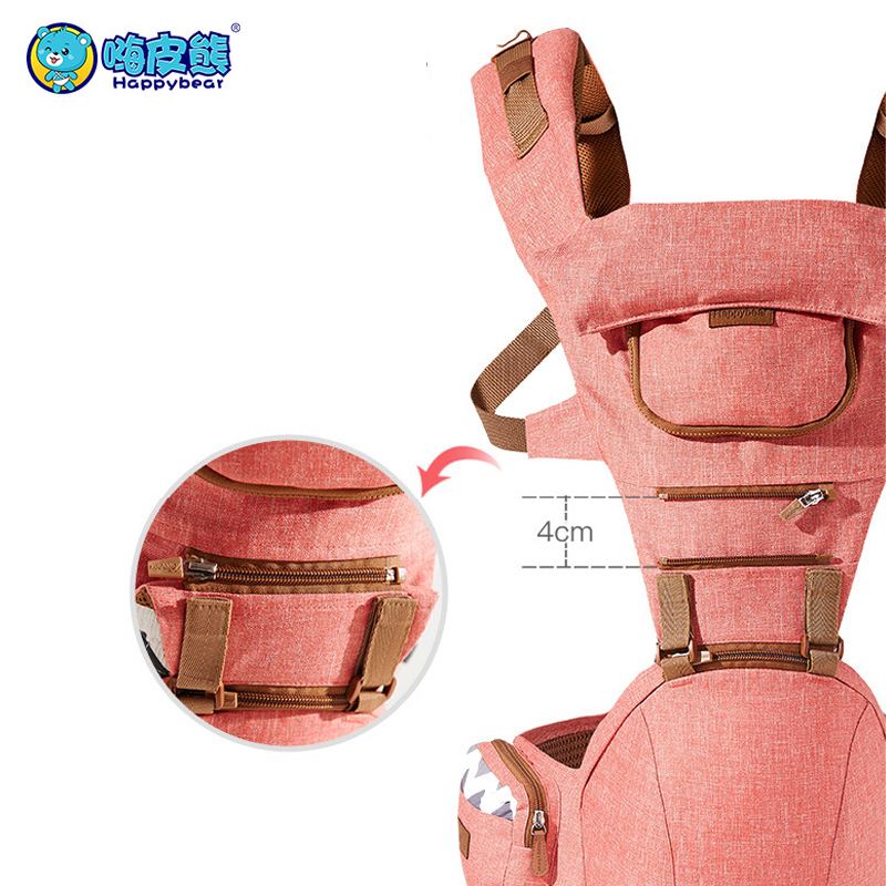 Купить с кэшбэком Breathable Ergonomic Carriers Backpack Portable infant baby Kangaroo hipseat heaps with side bag sucks pad baby sling wrap 1608