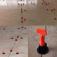 50pcs Fooring Wall Tile Leveling System Leveler Plastic Clip Locator Spacers Plier Tile Leveling System Construction Tools