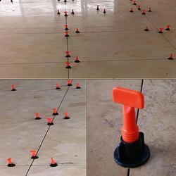 LanLan Bodenbelag Wand Fliesen Nivellierung System Leveler Kunststoff Clip Locator Spacer Zange Fliesen Nivellierung System Bau Werkzeuge