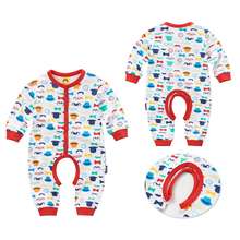 2017 Baby Rompers Newborn Printing Baby Clothes Cotton Baby Rompers Newborn Long Sleeve Unisex Baby Rompers Beautiful Costumes(China)