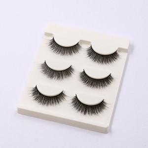 Image 2 - YOKPN Short Natural False Eyelashes Cross Soft Cottontail Stem Curl 3D Eye Lashes Comfort Stage Makeup Thick Fake Eyelashes