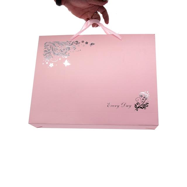 Mechones creativos de extensiones de cabello virgen para mujer, cajas de embalaje de papel para ropa, cajas de embalaje para sujetadores y dulces con bolsa de mano