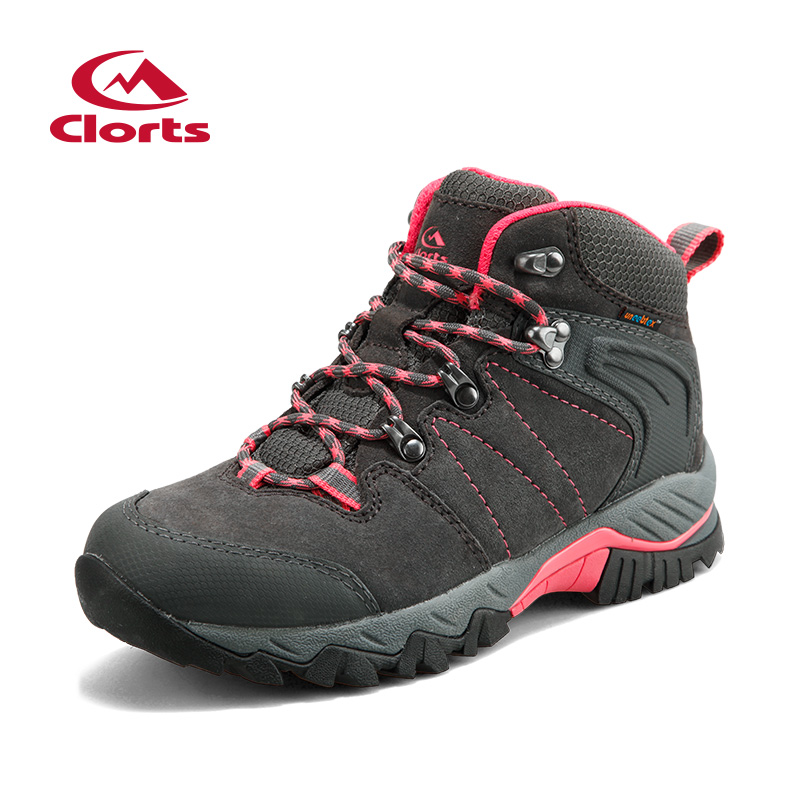 2018 Clorts Womens Hiking Boots Waterproof Outdoor Mountain Climbing Sports Shoes Suede Leather For Women Free Shipping HKM-822B 2018 merrto womens climbing shoes breathable hiking shoes warmth non slip outdoor sports shoes for women free shipping mt18696