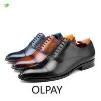 OLPAY модельные туфли мужские нарядные туфли для мужчин Полу торжественное платье Мужские модельные туфли кожаные