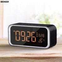 Светодиодный цифровой будильник с Bluetooth музыку Динамик Температура Время Календарь Дисплей электронный HIFI Офис настольные часы