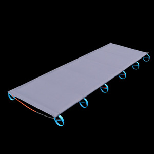 Image 3 - 2018 Hot SALE Camping Mat Ultralight Sturdy Comfortable Portable Folding Tent Bed Cot Sleeping Outdoor Camp bed Aluminium Frame
