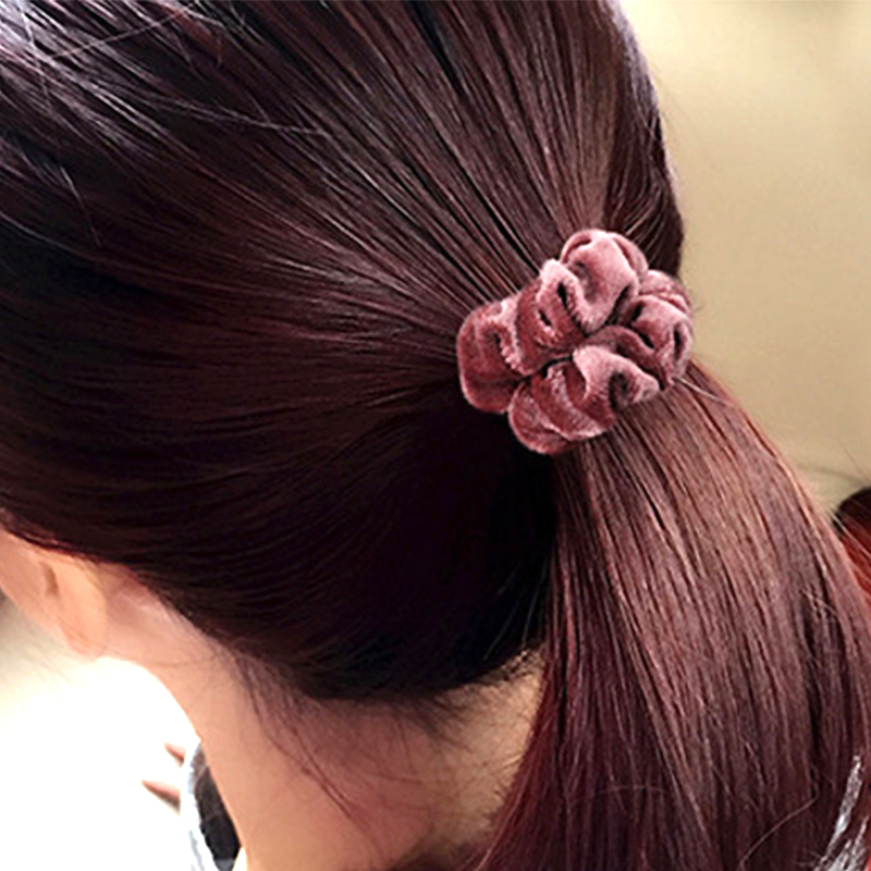 Hot Sale 1PC 10Colors Solid Velvet No Crease Women Promotional Elastic Hair Ropes Hair Accessories in Women 39 s Hair Accessories from Apparel Accessories