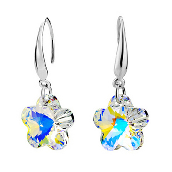 Women's Drop Crystal Earrings Earrings Jewelry Women Jewelry Metal Color: E020 White