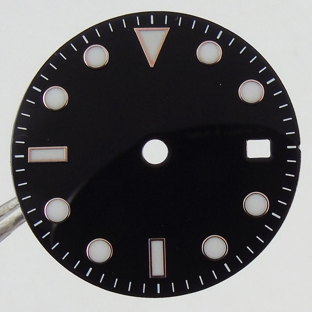 28.5 mm Bliger Black White sterile Watch Dial fit 2836 2824 2813 3804 Miyota 82 Series movement 40 mm watch
