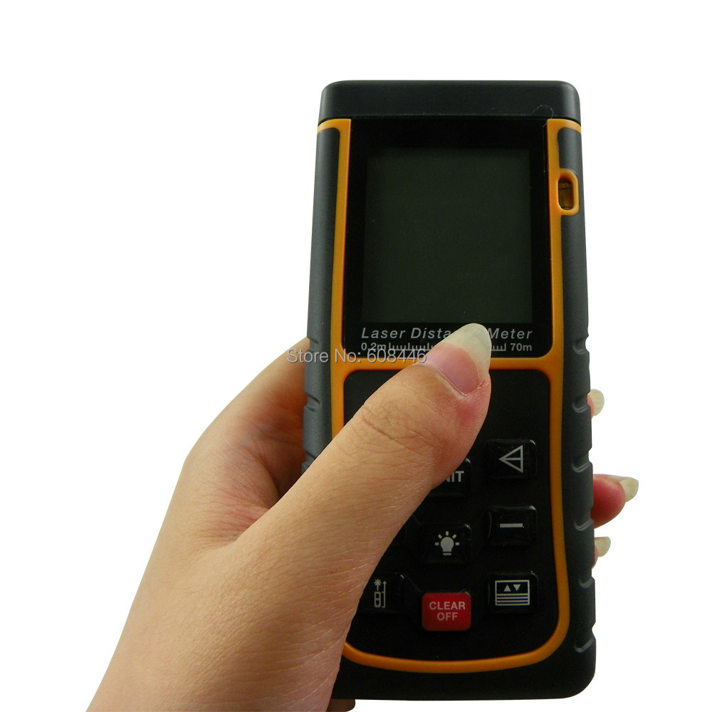цена на Hot 70m/229ft Mini Digital Laser Distance Meter Range Finder Measure Diastimeter hot