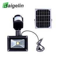 Solar Sensor LED Floodlight 10W Integrated Lamp Beads 12V 700LM IP65 Cold White Sun Energy Light