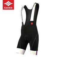 Santic High Quality Classic Bib Shorts Race Bicycle Bottom Ropa Ciclismo Bike Pants 4D Gel Padded