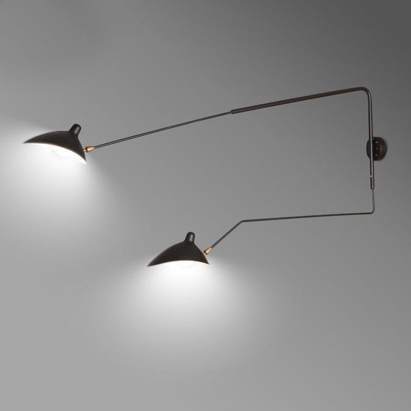 retro designer rotating sconce industrial loft lampadas 04