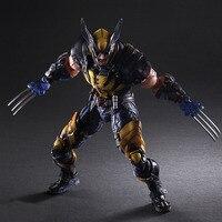 Wolverine Figure LOGAN X Men X MEN Play Arts Kai Wolverine James LOGAN Howlett Play Art KAI PVC Action Figure 26cm Doll Toy