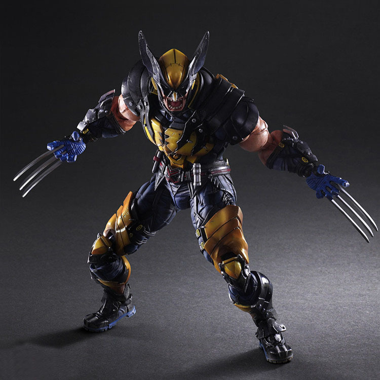 Wolverine Figure LOGAN X Men X-MEN Play Arts Kai Wolverine James LOGAN Howlett Play Art KAI PVC Action Figure 26cm Doll Toy diy klon overdrive pedal professional overdrive clone guitar effect pedal true bypass cr