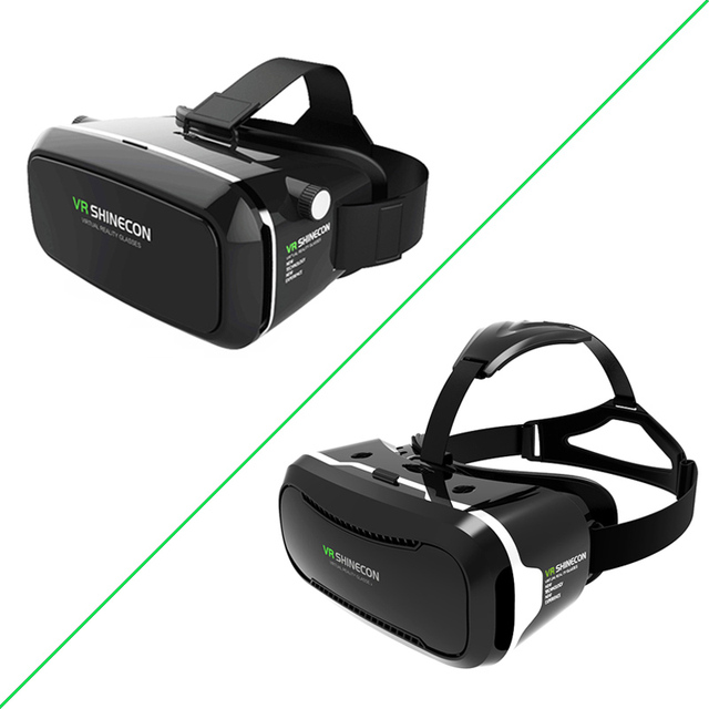 2017 Original VR Shinecon 1.0 2.0 3D Virtual Reality Glasses Smartphone Headset Helmet Cardboard vr box for Mobile Phone