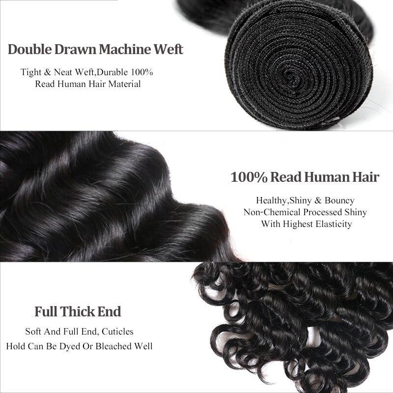 Ali reine cheveux produits en gros prix avec livraison gratuite 10 pièces Lot vierge péruvienne vague naturelle armure de cheveux humains - 3