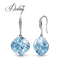 Destiny Jewellry hoop earring embellished with crystal from Swarovski DE0253(China)