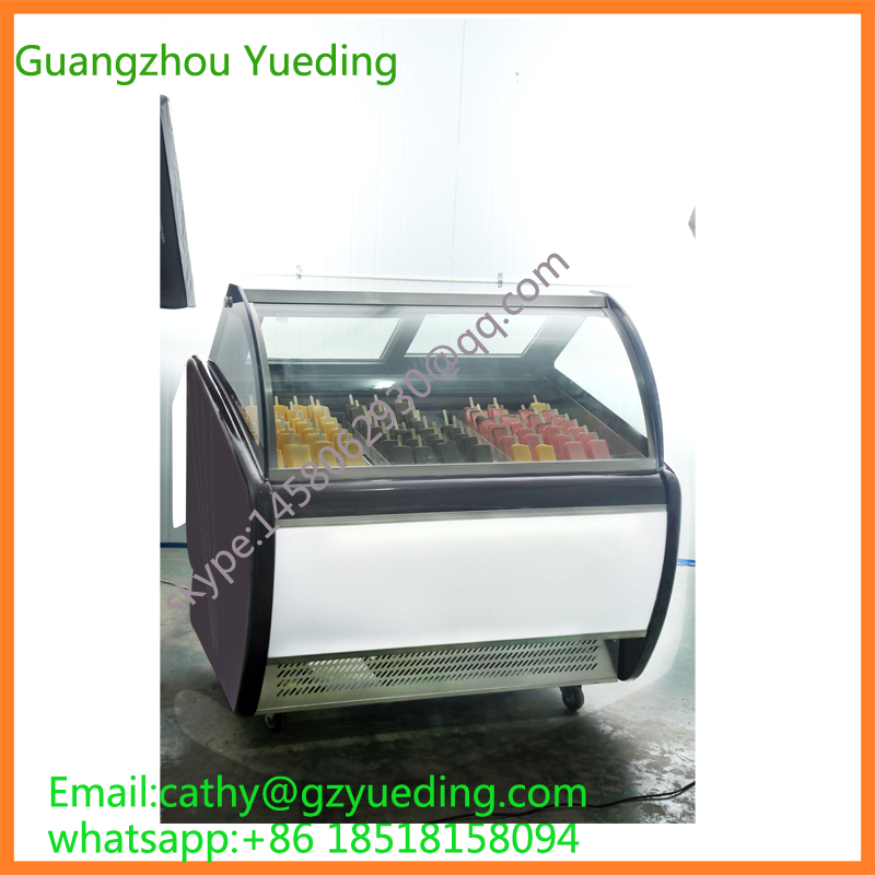 Commercial Popsicles Display Freezer Ice Lolly Freezer Showcase For