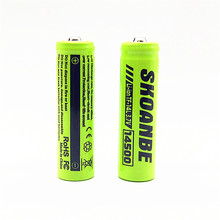 TBUOTZO 4/5/6PCS 14500 700-800mAh 3.7V Li-ion Rechargeable Batteries Lithium Cell for Led Headlamps  Flashlight Toys Top Head