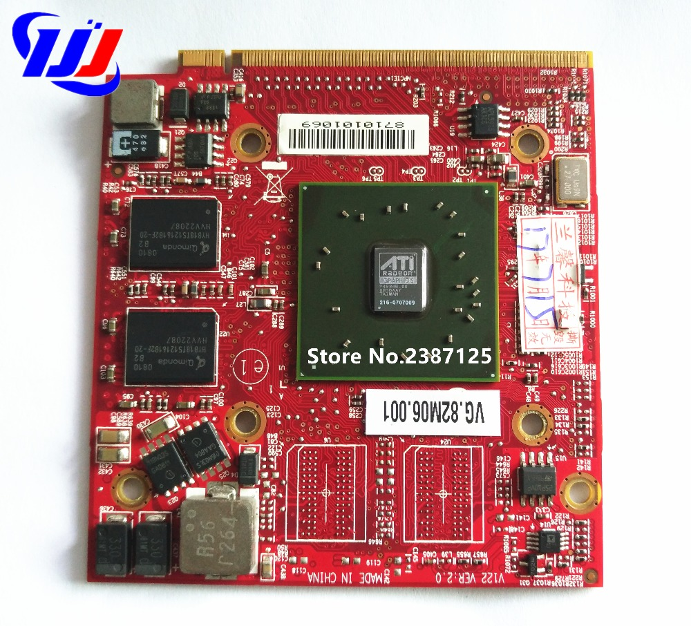 Novo za Acer TravelMate 5530G 5530 5730G 5730 prenosni računalnik 512 MB DDR2 Grafična video kartica za AMD ATI Radeon HD3650 HD3470 Drive Case