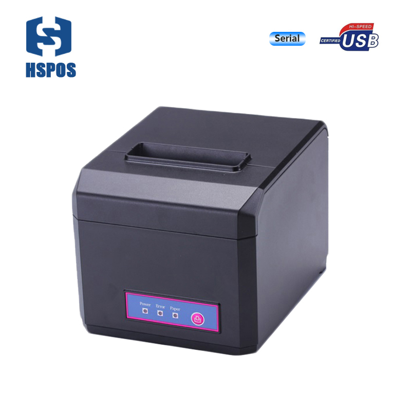 Hotel bill receipt printer with auto cutter 80mm thermal POS printer support windows, linux system serial interface for project wholesale brand new 80mm receipt pos printer high quality thermal bill printer automatic cutter usb network port print fast