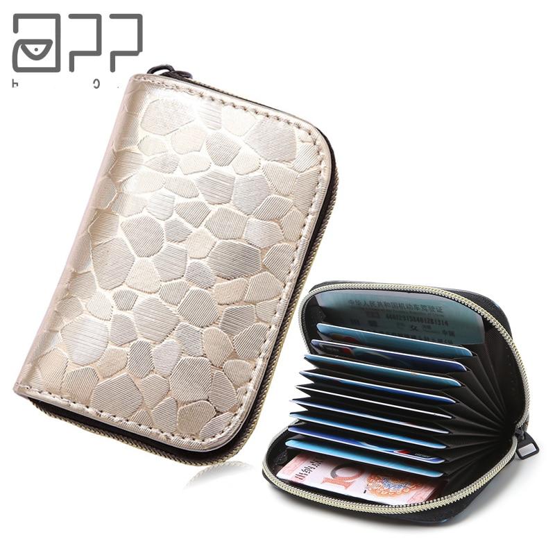 APP BLOG Women Men Credit ID Card Holder Case Extendable Business Bank Cards Bag Wallet Passport Cover Small Zipper Coin Purse