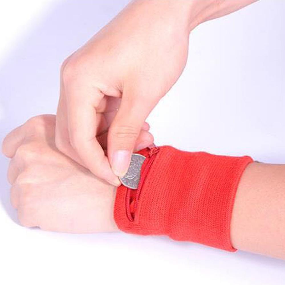 2019 8 X 8cm Cotton Zipper Wrist Wallet Running Sports Arm Band Bag For Keycard Storage Bag Case Badminton Basketball Wristband