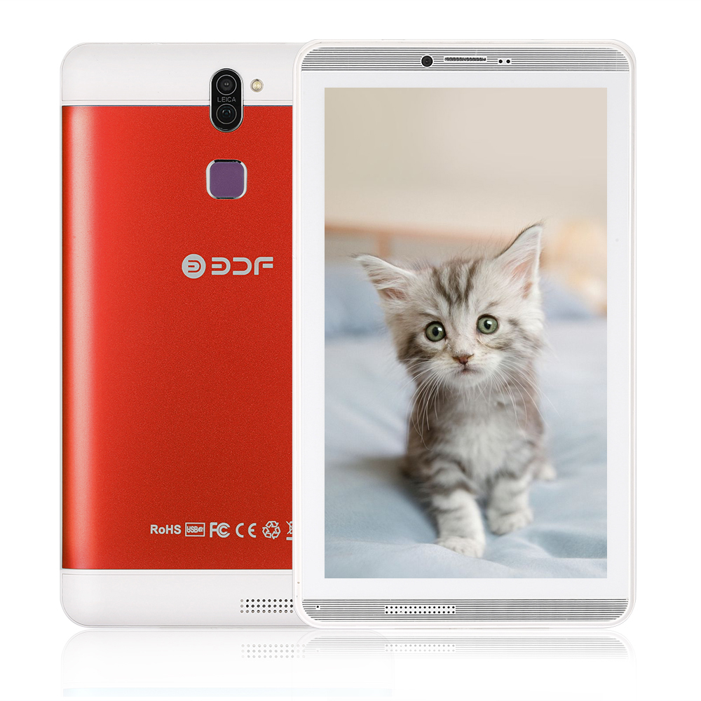 7 Inch Screen Android 6.0 Pc Quad Core 1GB+16GB Flash Built Inside Dual Sim Card Phablet Tablet