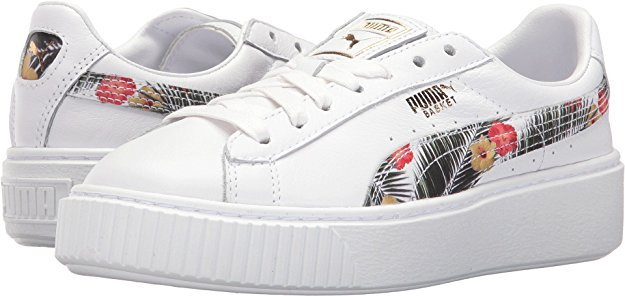 Original PUMA Kids Women s Basket Platform Aloha Jr (Big Kid) Badminton  Shoes Size36-39 8745f047ae24