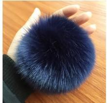 Pompon Phone Shell Car Key Pendant montre femme Bag Pendants for Women DIY Colorful Rabbit Fur Ball Keychain Jewelry Wholesale