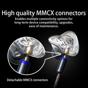 Image 3 - BGVP DM7 6BA Balanced armature In Ear Earphone Metal High Fidelity Monitor With Detachable MMCX Cable And Three Nozzles DMG DM6