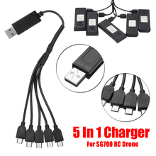for SG700 RC Drone 5 In 1 Multi Battery Charger USB Charging Connector