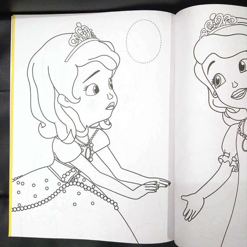 16 Page Coloring Book Sofia Sticker Kids Books Adult Coloring