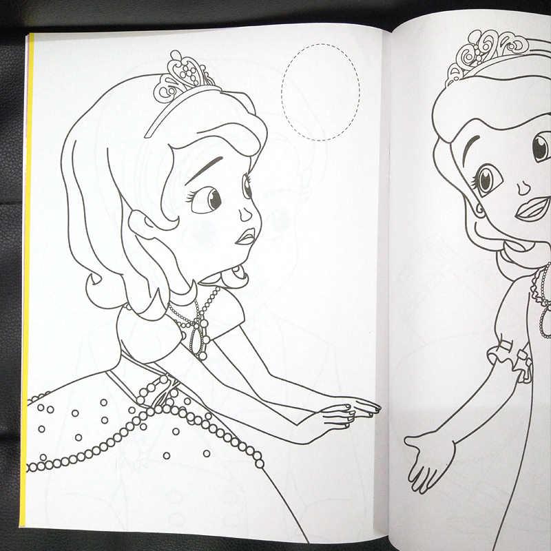 16 страниц раскраска книга софия стикер детские книги раскраски для взрослых Livre рисование искусство мода цвет раскраска книга антистресс