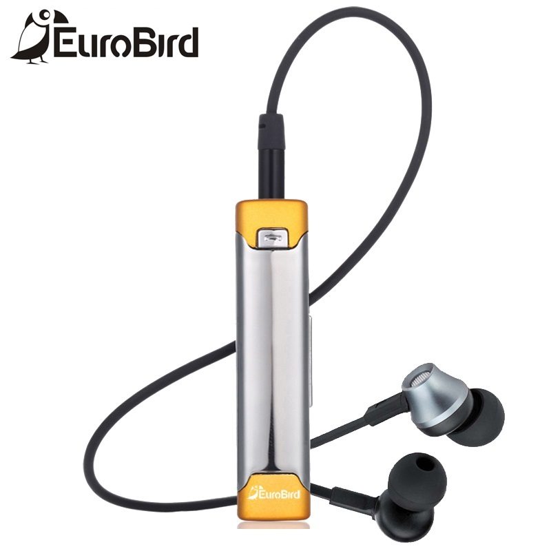 Eurobird HiFi Sport Basse Lourde Cravate Auriculaire Sans Fil Bluetooth Écouteurs Bleu Dent Micro Casque Bluetooth Stéréo Écouteurs