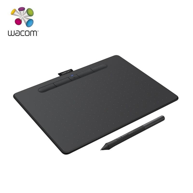 Wacom Intuos CTL-6100WL Bluetooth Model Digital Graphic Tablet 4096 Pressure Levels Black / Pistachio Green+10Pcs Black Nibs