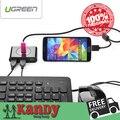 4 portos USB 3.0 OTG HUB alta velocidade de 5 Gb / sec micro USB 10PIN para PC Desktop portátil Notebook Samsung nota 3 S5 rato jogo teclado