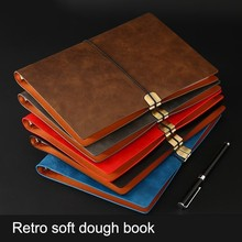 Soft notebook business loose-leaf students class assignment book package school supplies diary