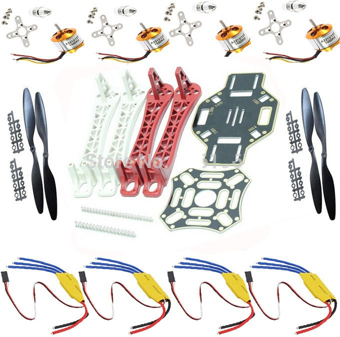 RC Drone Quadcopter F450 Flamewheel Kit/4axis FPV+ Motor+ ESC+1045propellers F450 Multicopter