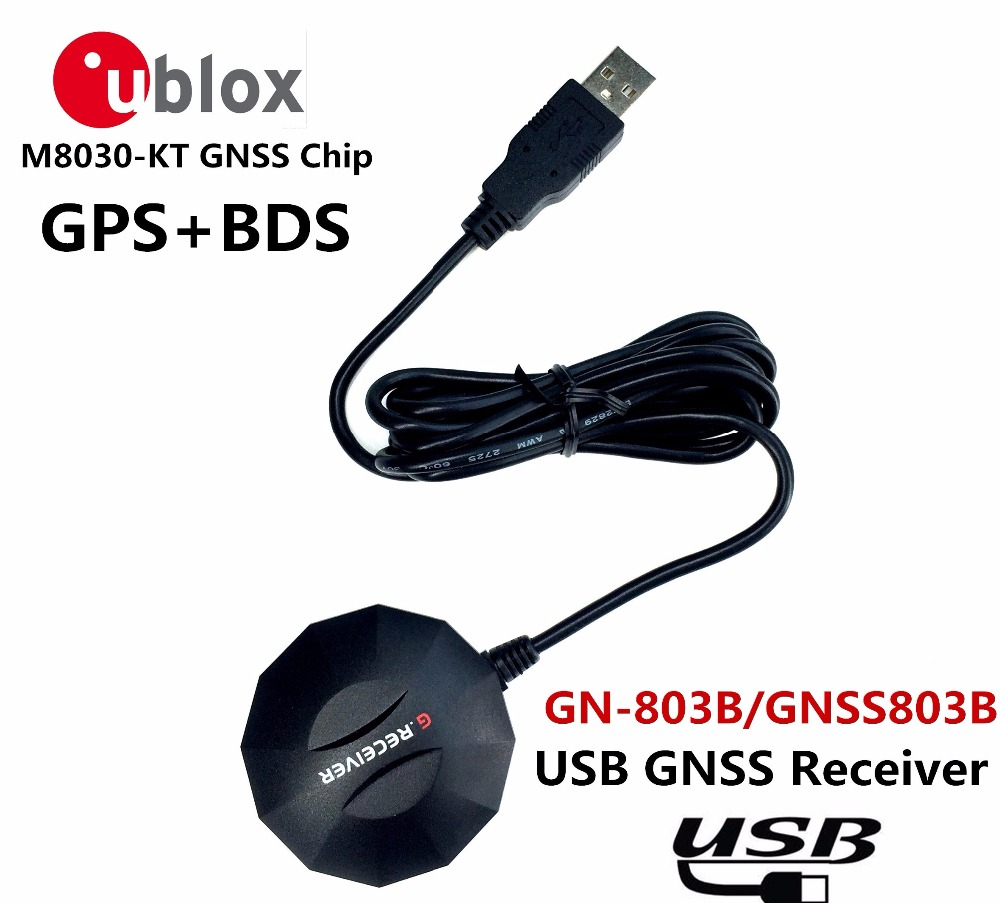 NEW USB GPS receive BDS GLONASS Galileo Module antenna,Dual-mode ublox neo M8N GNSS chip Design NMEA0183 , alternative BU-353S4